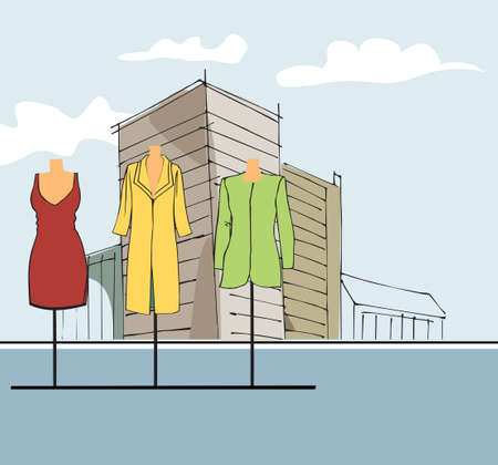 retail therapy: clothing stand