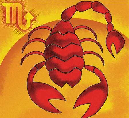 escorpio: Escorpio; s�mbolo del Zodiaco Foto de archivo