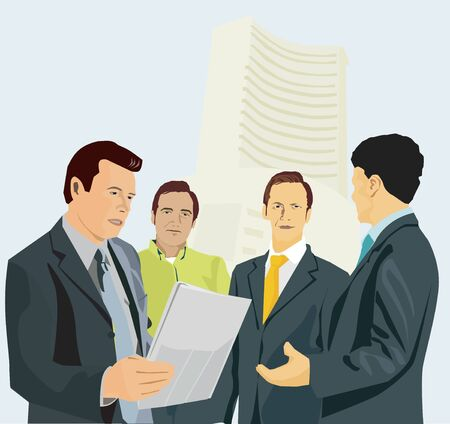 Businessmen talking to each other Stock Photo - 9688695