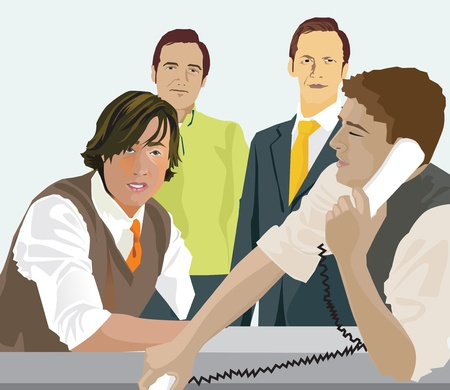 meet up: Group of businessmen