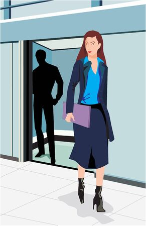 Front view of a businesswoman Stock Photo - 9688737
