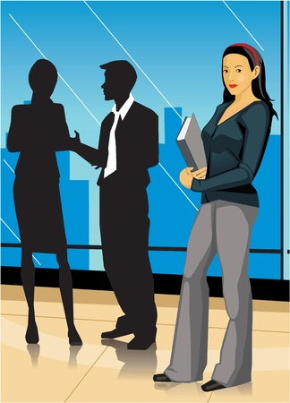 Side view of a businesswoman looking at camera Stock Photo - 9688864