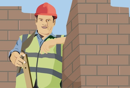 pictorial  representation: Front view of a construction worker