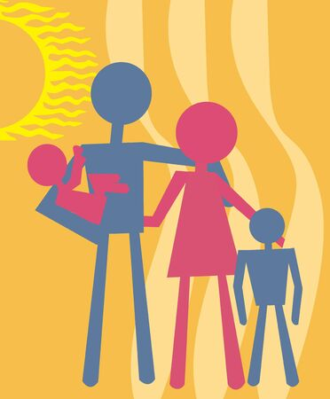 female likeness: Family standing together Stock Photo