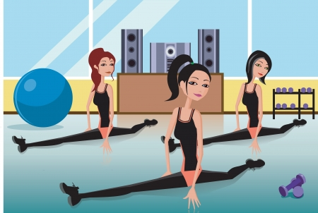 Women doing yoga photo