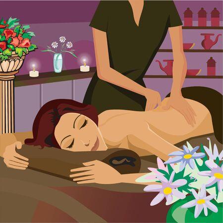Woman having massage Stock Photo - 9688909