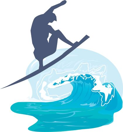 Silhouette of a person surfing in the sea  photo