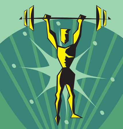 weightlifter: Front view of a weightlifter