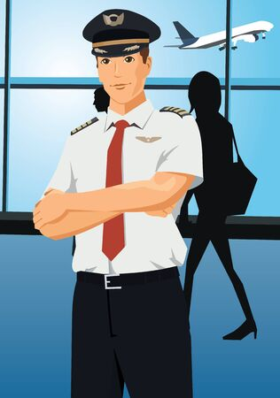 pilot: Front view of a pilot looking at camera