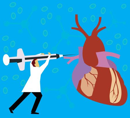 chromosomal: Doctor giving injection to heart