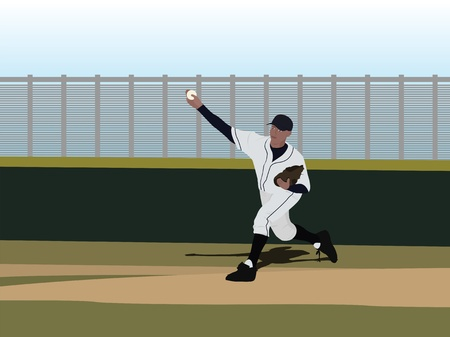 Baseball Player throwing the ball Stock Photo - 9688918