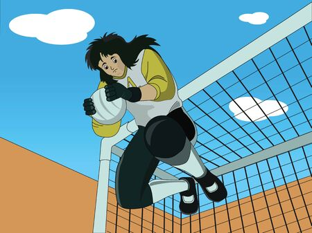 Low angle view of a goalkeeper Stock Photo - 9688952