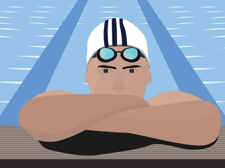 Close-up view of a swimmer Stock Photo - 9688732