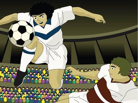 Football player kicking the ball Stock Photo - 9688956