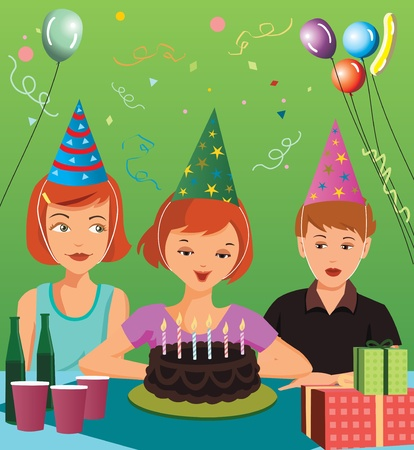 Children at birthday party  photo