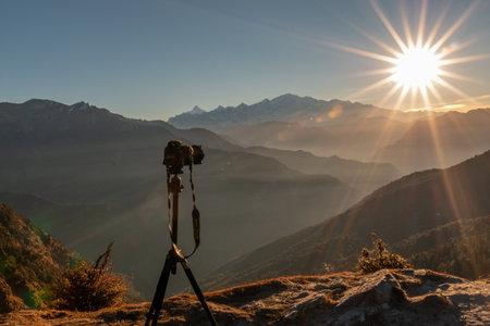Scenic Landscape, Landscape view of Himalaya snow mountains in Chopta Valley of Uttarakhand, India Reklamní fotografie