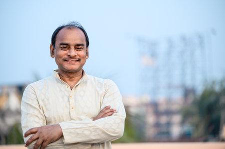 Portrait of a Middle aged Indian Man Banque d'images