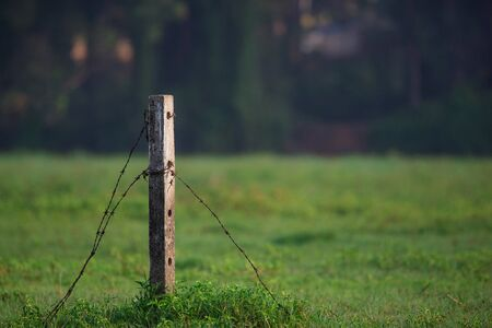 golden rule: Broken Fence at a private field in a remote village