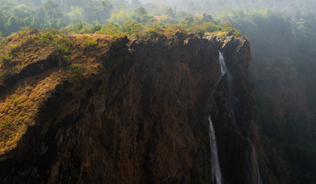 Waterfall from the famous jogfalls in Karnataka, India during a summer