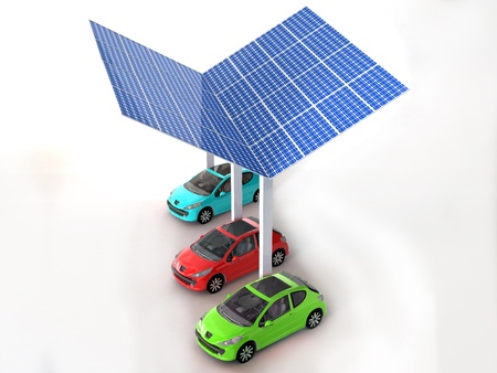 solar panel for cars Stock Photo - 16774131
