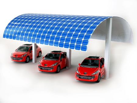 solar panel for cars Stock Photo - 16774094