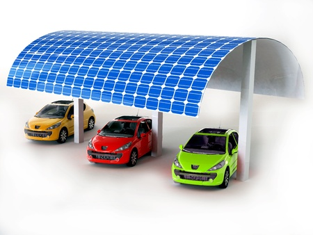 solar panel for cars Stock Photo - 16774093