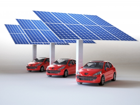 solar panel for cars Stock Photo - 16774133