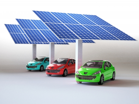 solar panel for cars  Stock Photo