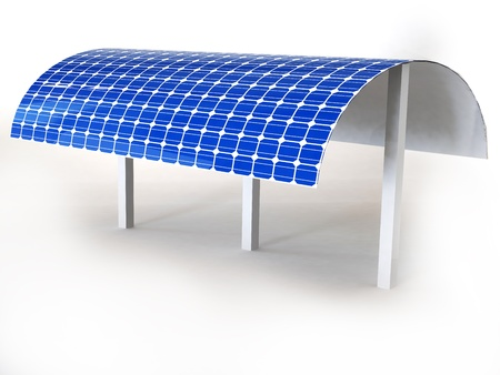 solar panel isolated in white Stock Photo - 16774084