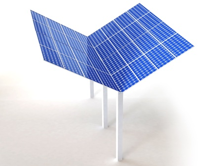 solar panel isolated in white Stock Photo - 16774132