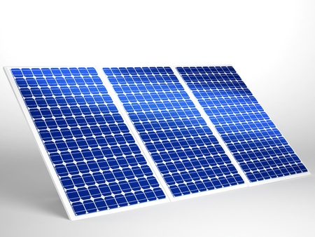 solar panel isolated in white Stock Photo - 16774138