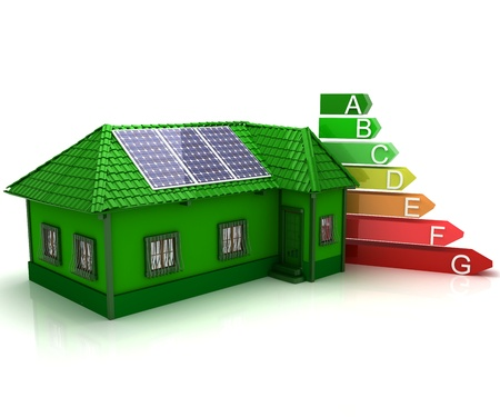 low energy: house energy saving concept Stock Photo