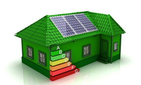 energy performance certificate: house energy saving concept Stock Photo