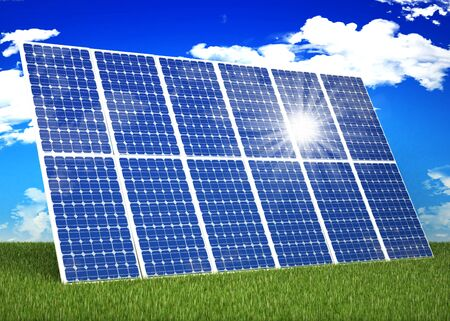 Solar panel in nature Stock Photo - 16774139
