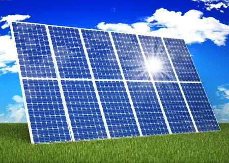 Solar panel in nature Stock Photo - 16774139