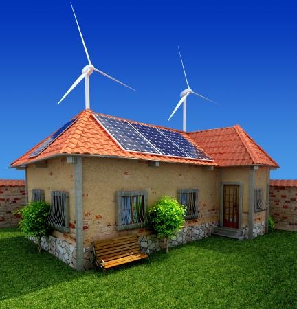 risparmio energetico: casa concetto di energia di risparmio Archivio Fotografico