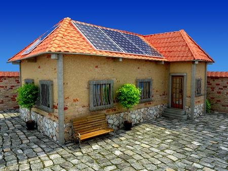 low energy: house energy saving concept Stock Photo