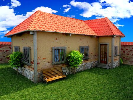 prefabricated: old house