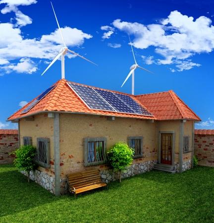 ahorro energia: energía ahorro de casa concepto