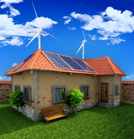 house energy saving concept photo
