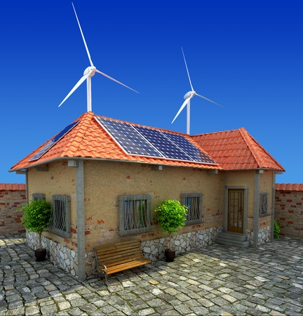standards: house energy saving concept Stock Photo