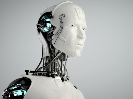 artificial intelligence: robot android men