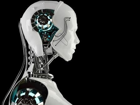 chrome man: robot android men
