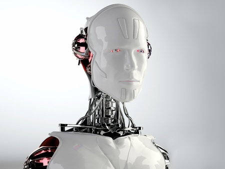 robots hommes android Banque d'images
