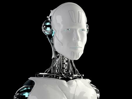 virtual reality: robot android men