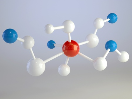 medical molecule background photo