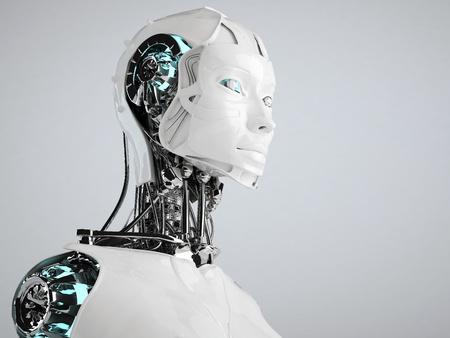 robot: robot androide mujeres Foto de archivo