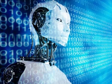 cyborg: computer robot background