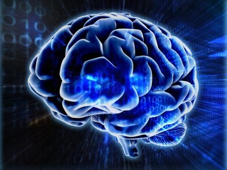 brain background Stock Photo