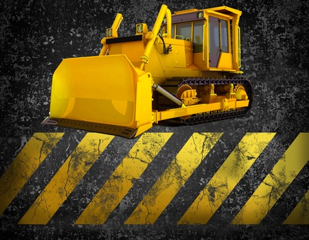 excavating machine: bulldozer